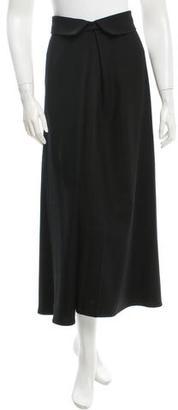 Yohji Yamamoto Wool & Cashmere-Blend Maxi Skirt $110 thestylecure.com