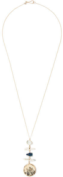 Melissa Joy Manning 14-karat Gold Multi-stone Necklace