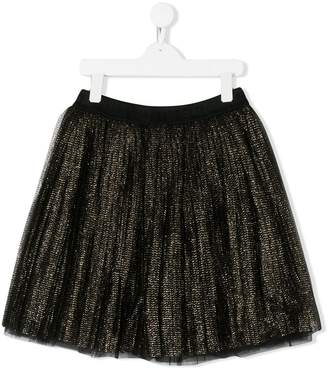 Alberta Ferretti Kids TEEN metallic thread flared skirt