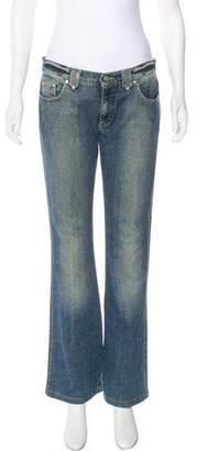 Blumarine Mid-Rise Flare Jeans