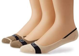 Sperry Men's Signature Insivisble Striped 3 Pair Pack Liner Socks