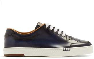 Berluti - Playtime Palermo Leather Low Top Trainers - Mens - Navy