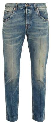 Gucci - Mid Rise Tapered Leg Jeans - Mens - Blue