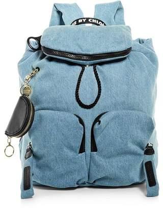See by Chloe Joy Rider Medium Denim Backpack