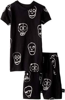 Nununu Skull Mask Short Loungewear Boy's Pajama Sets