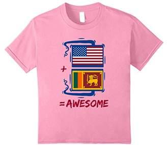 American + Sri Lankan = Pride Sri Lanka Flag Shirt