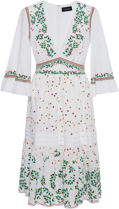 Saloni June Embroidered Cotton Dress $595 thestylecure.com