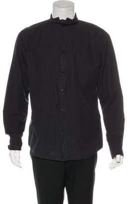 Bottega Veneta Woven Snap-Front Shirt