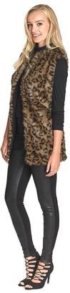 Long Tall Sally Faux Fur Animal Print Gilet
