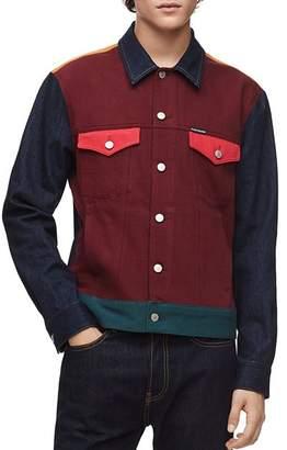Calvin Klein Jeans Color-Block Trucker Jacket