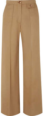 See by Chloe City Twill Wide-leg Pants - Sand