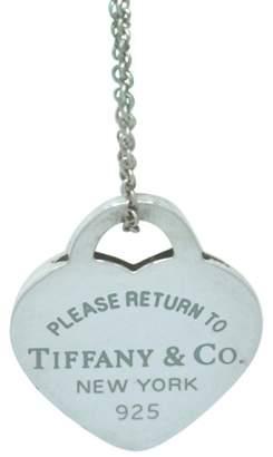 Tiffany & Co. Return to Tag Blue Enamel Heart Pendant Necklace