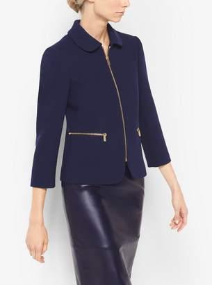 Michael Kors Stretch-Boucle Crepe Jacket
