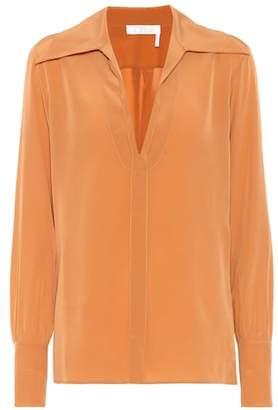 Chloé Silk crêpe di chine blouse