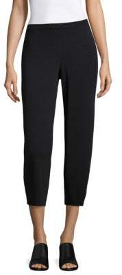 Eileen Fisher Wide Wool Cropped Pants