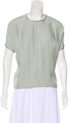 Calvin Klein Collection Short Sleeve Scoop Neck Blouse w/ Tags