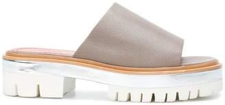 Santoni chunky sole slides