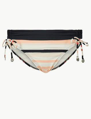Marks and Spencer Striped Tie Side Hipster Bikini Bottoms