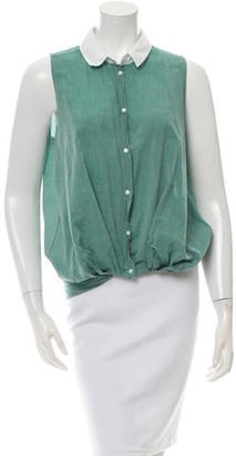 Boy. by Band of Outsiders Sleeveless Button-Up Top $75 thestylecure.com