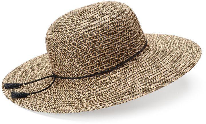 SONOMA Goods for LifeTM Tweed Tassel Floppy Hat