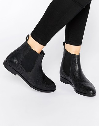 Bronx Lizard Print Leather Chelsea Boots $97 thestylecure.com