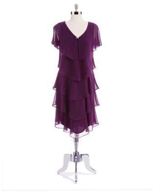 Patra Tiered Crepe Dress