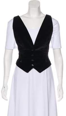 Dolce & Gabbana Velvet Button-Up Vest