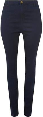 Dorothy Perkins Womens DP Curve Plus Size Navy Fly Front Jeggings