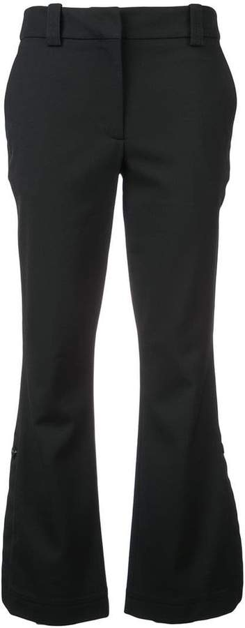 flare cropped trousers