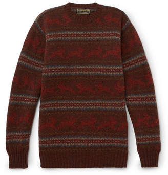 Cordings Hare Jacquard-Knit Wool Sweater