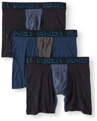 AND 1 AND1 Men's ProPlatinum Performance Boxer Briefs with Contour Pouch, 3-Pack