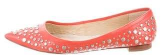 Diane von Furstenberg Studded Pointed-Toe Flats