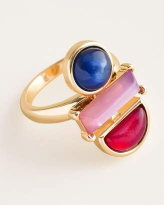 Chico's Chicos Geometric Multi-Colored Ring