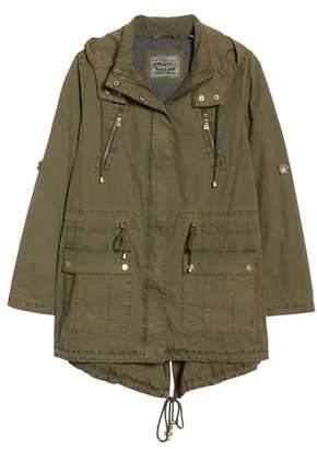 Levi's(R) Parachute Hooded Cotton Utility Jacket