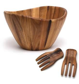 Lipper 3-pc. Acacia Wood Salad Bowl & Server Set