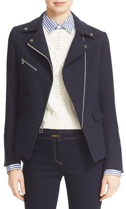 Women's Veronica Beard Lounge Moto Jacket $695 thestylecure.com
