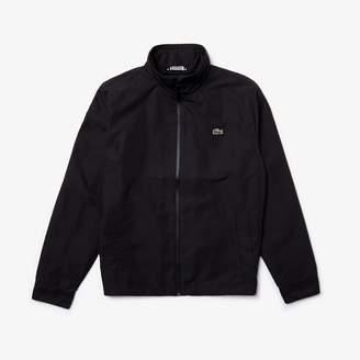 Lacoste Men's Concealed Hood Zippered Lightweight Taffeta Jacket