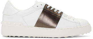 Valentino White & Brown Open Sneakers $695 thestylecure.com