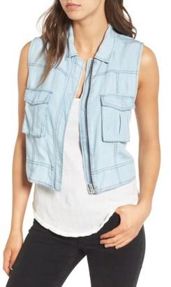 Women's Bb Dakota Xavier Chambray Vest $110 thestylecure.com