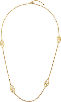 Roberto Coin Bollicine 18k Long Station Necklace w/ Diamonds
