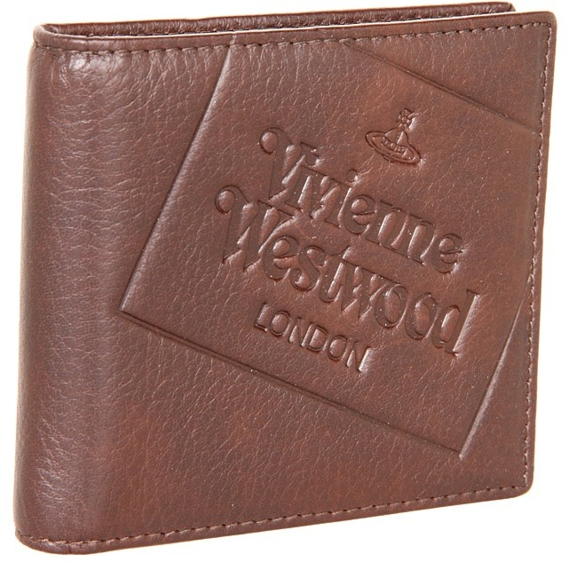 Vivienne Westwood Bifold Wallet with Stamp (Testa Di Moro) - Bags and Luggage