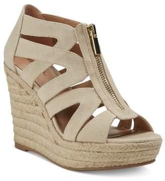Merona Women's Ruth Canvas Zipper Wedge Espadrille Sandals $29.99 thestylecure.com