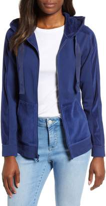 Tommy Bahama Jen and Terry Velvet Trim Hoodie Jacket