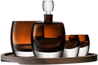 LSA International Whisky Club Connoisseur Set & Serving Tray