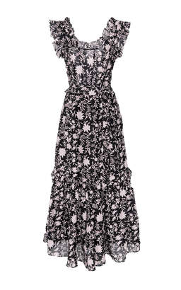 Ulla Johnson Brigitte Floral Organza Dress