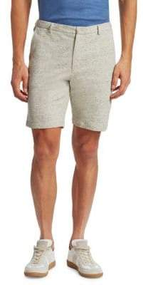 Saks Fifth Avenue MODERN Heather Modern-Fit Cotton Shorts