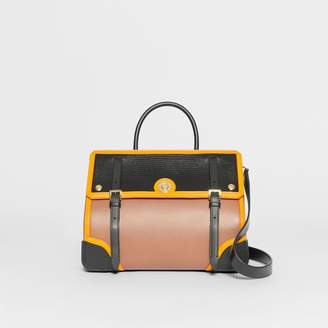 Burberry Small Embossed Leather Elizabeth Bag