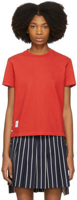 Thom Browne Red Classic Pique Relaxed T-Shirt