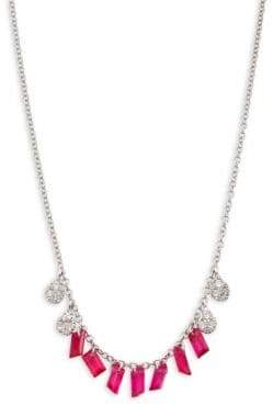 Meira T Diamond& Ruby Necklace - White Gold Ruby
