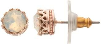 Lauren Conrad Crown Nickel Free Stud Earrings